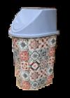 Tuffex click billenős szemetes 24l TP2230 mozaik
