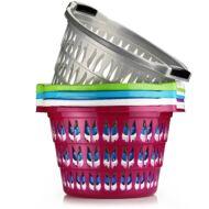 Asude ruháskosár kerek színes 35l ASD106
