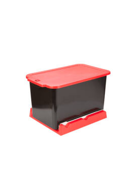 Berossi kihúzható beépíthető szemetes 15l aszfaltszürke-vörös AC222564