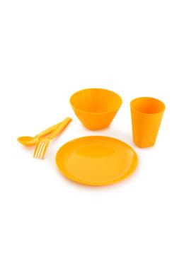 Berossi gyerek étkészlet evőeszközzel napsárga IK29334