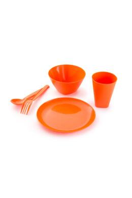 Berossi gyerek étkészlet evőeszközzel mandarinsárga IK29340