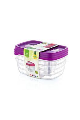 Hobby trend tároló doboz 3x0,6l 021015