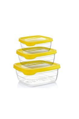 Hobby trend tároló doboz négyzet 3 részes 0,5+0,9+1,5l 021035 sárga