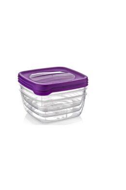 Hobby trend tároló doboz négyzet 3x0,5l 021038 lila