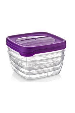 Hobby trend tároló doboz négyzet 3x1,5l 021040 lila