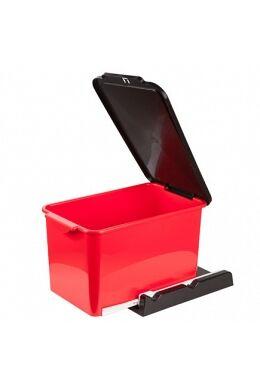 Berossi kihúzható beépíthető szemetes 15l vörös-aszfaltszürke AC22246