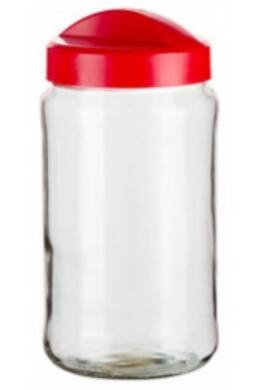 Berossi tároló üveg 1,5l vörös IK19346 ÚJ