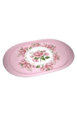 Zucci tálca mintás ovális 39x26cm KU-178 Pink rózsás