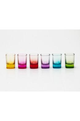 Sigma üveg pohár shotos színes szett 6 részes 6x5,5cl SGM00665 ÚJ