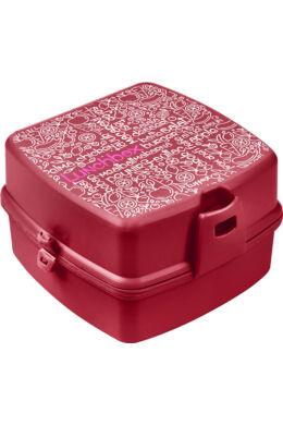 Tuffex uzsonnás doboz mintás kicsi TP509 ÚJ piroscsukott