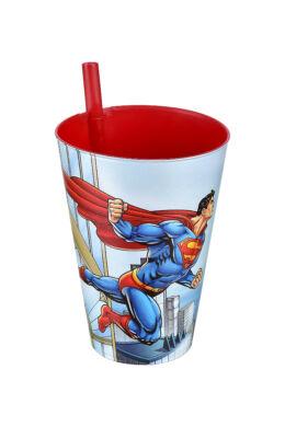 Tuffex Superman pohár szívószállal TP512-51 ÚJ