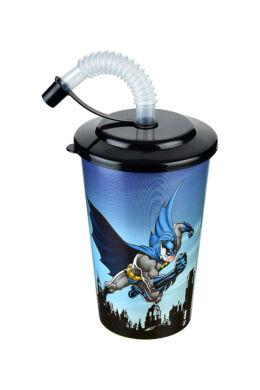 Tuffex Batman pohár szívószálas tetővel TP513-50 ÚJ