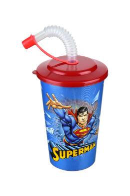 Tuffex Superman pohár szívószálas tetővel TP513-51 ÚJ