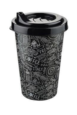Tuffex pohár kávé mintás tetővel 0,25l TP514