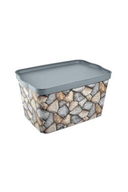 Tuffex tároló doboz tetővel mintás 24l TP601 ÚJ