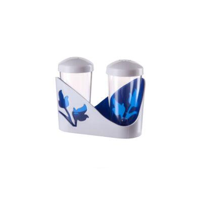 Berossi só és bors szóró viola kék átlátszó IK20010