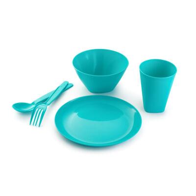 Berossi gyerek étkészlet evőeszközzel türkíz IK29337