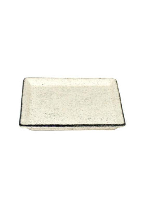 Zucci kerámia tányér desszert négyzet pöttyös 22cm DR015