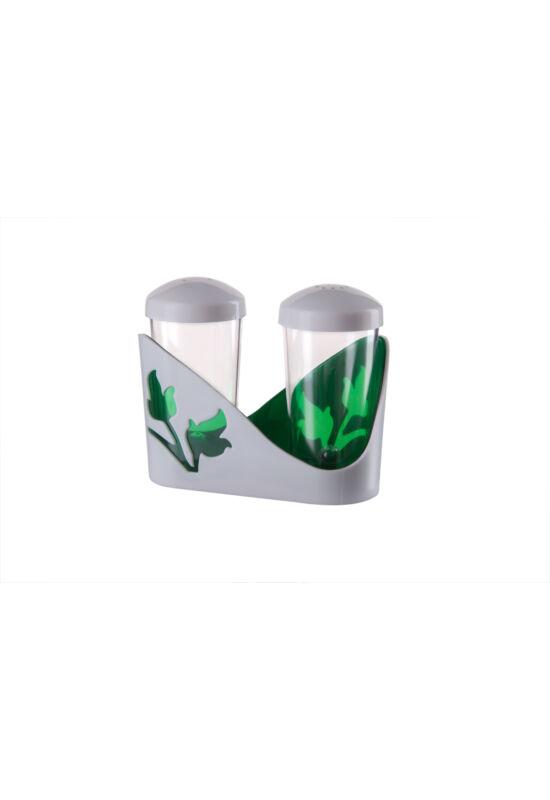 Berossi só és bors szóró viola zöld átlátszó IK20011