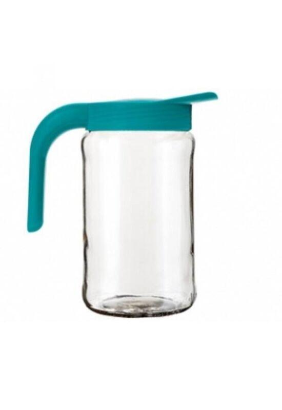 Berossi kancsó üveg 1,5l türkíz, IK09037 ÚJ
