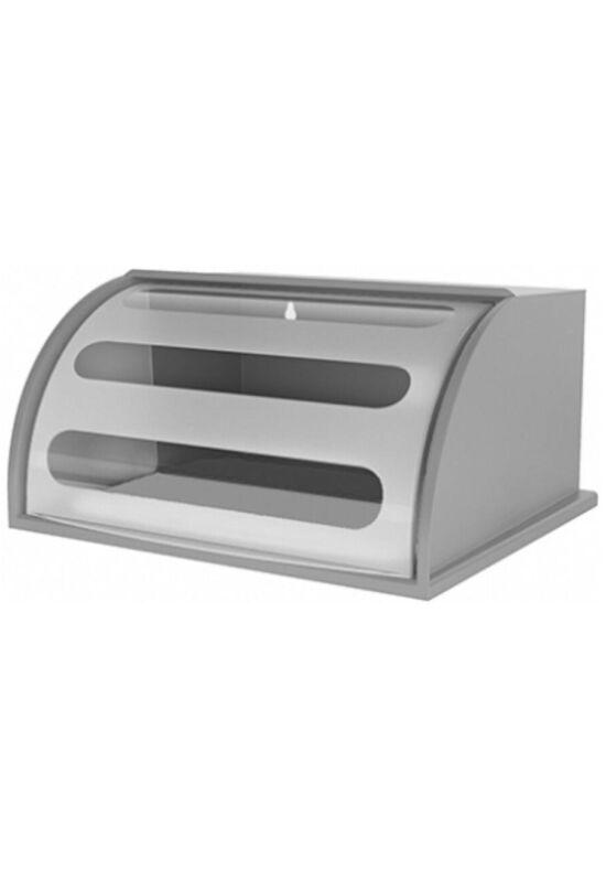 Berossi kenyértartó mulin 31х36х19cm átlátszó ezüst IK23760 ÚJ