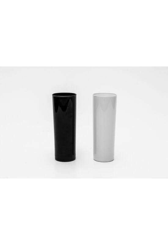Sigma üveg váza szett fekete-fehér 2 részes 0,35l SGM02424 ÚJ
