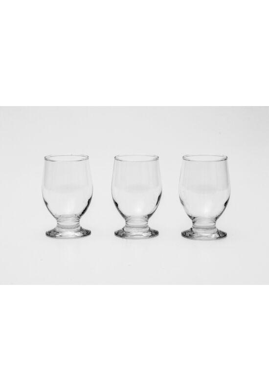 Sigma üveg pohár üdítős talpas szett 3 részes 3x0,26l SGM03834 ÚJ